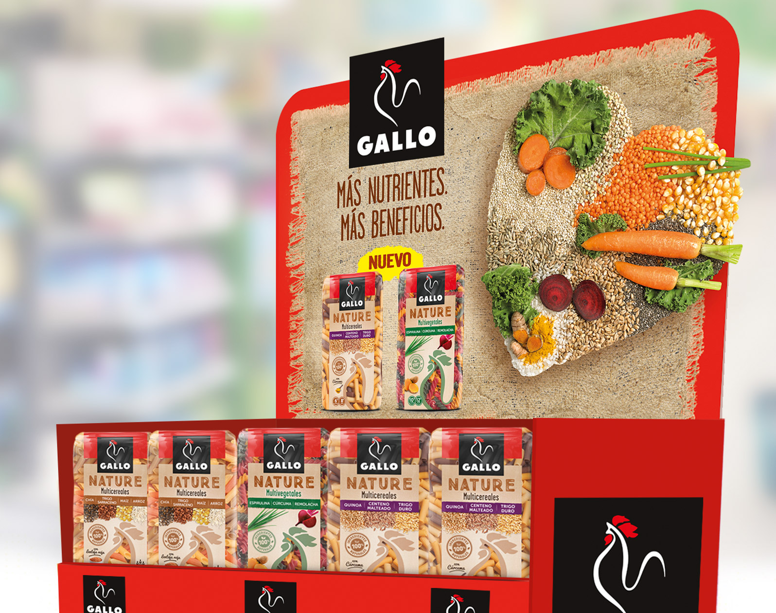Pastas Gallo - Communication on point of sale Gallo Nature